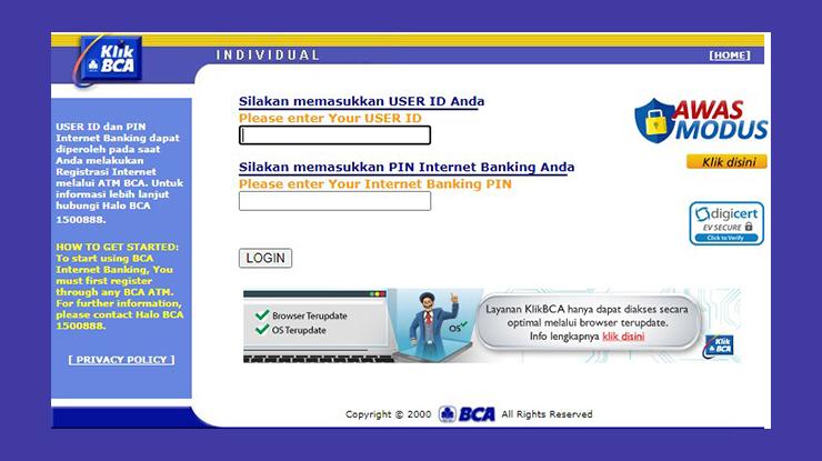 Melalui Internet Banking BCA 1