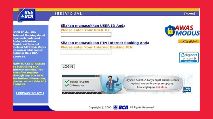 Melalui Internet Banking BCA