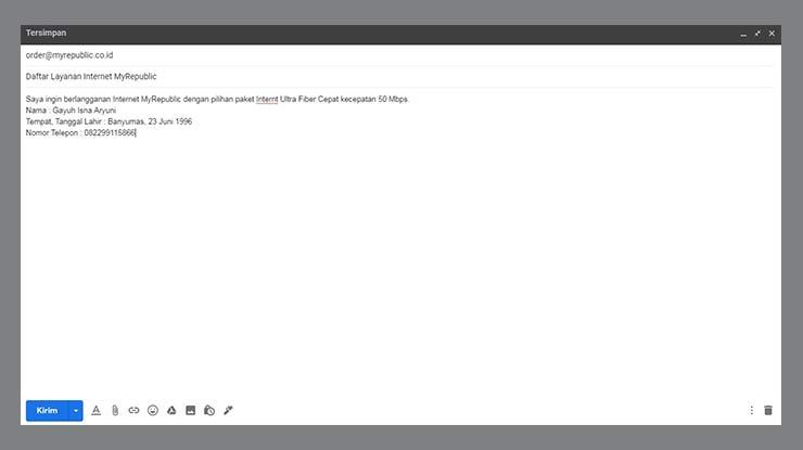 Melalui Email MyRepublic