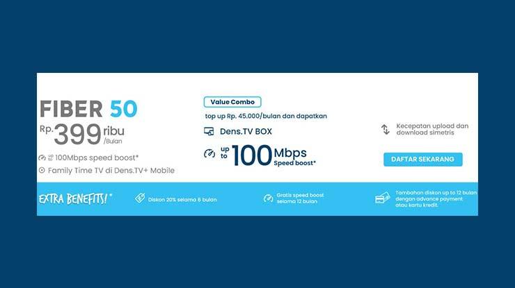 Fiber Broadband 50