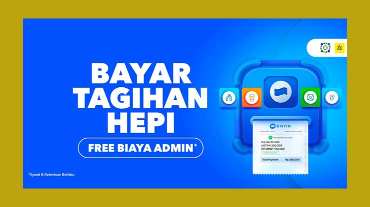 Biaya Admin Untuk Pelunasan Tagihan GIG Indosat via DANA