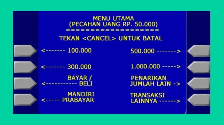 Bayar XL Home Lewat ATM Mandiri
