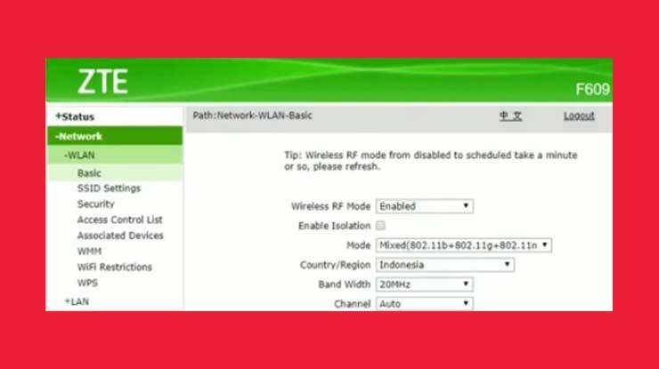 Buka Menu SSID Settings