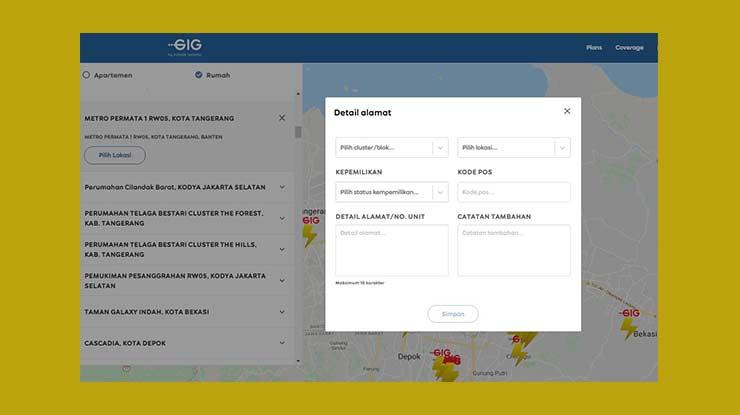 Cek Jaringan Lewat Website GIG Indosat