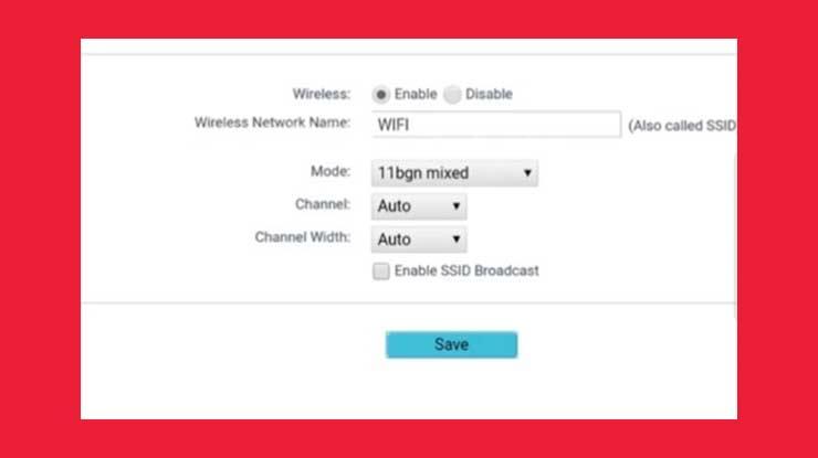Nonaktifkan Enable SSID Broadcast