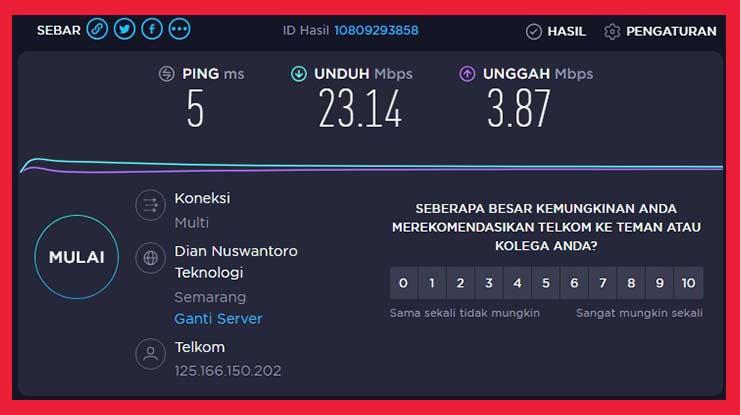 Review Dari Segi Kecepatan Internet