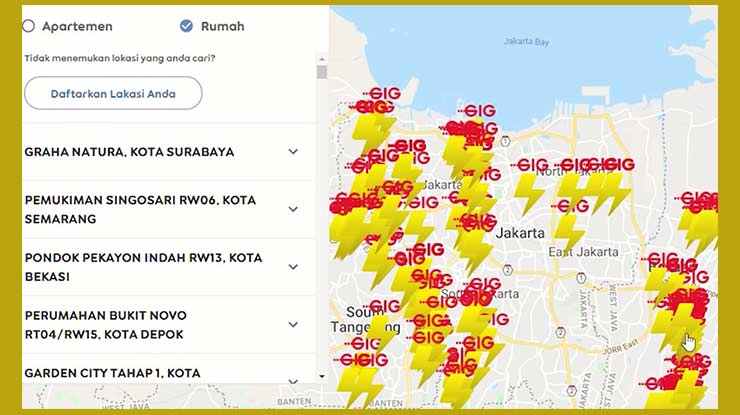 Area Jangkauan GIG Indosat