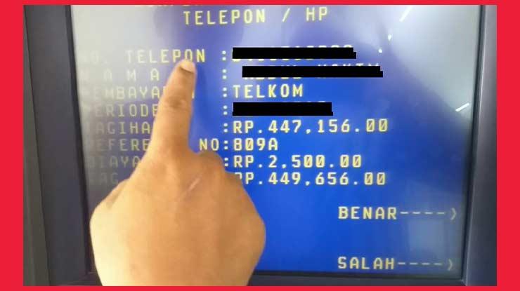 Bayar Deposit Indihome Lewat ATM Mandiri