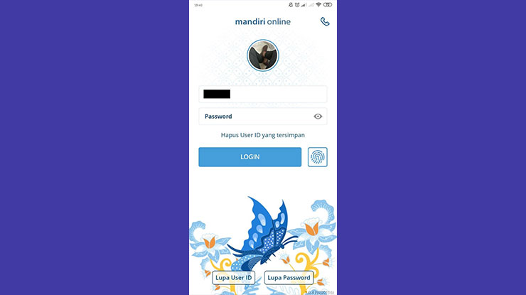 Login Aplikasi Mandiri Online