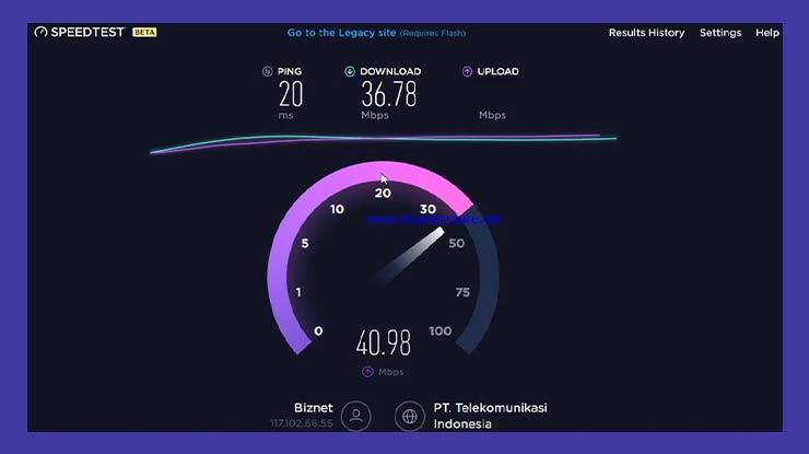 Review Kecepatan Internet