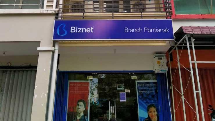 Alamat Kantor Cabang Biznet di Kota Pontianak