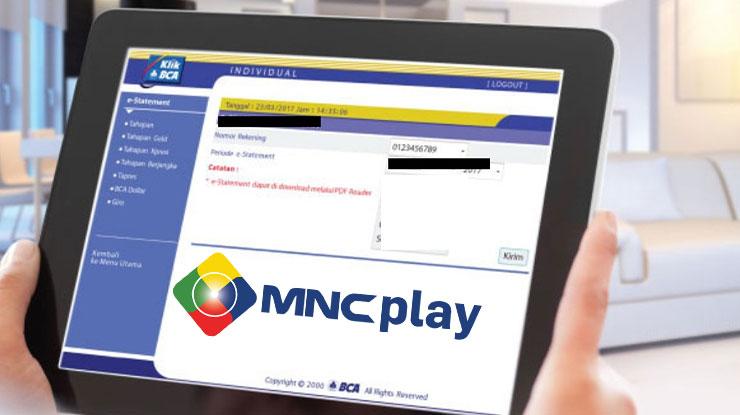 Biaya Admin Pembayaran MNC Play di Internet Banking BCA