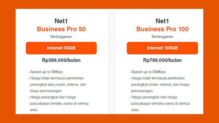 Harga Paket Net1 Bisnis