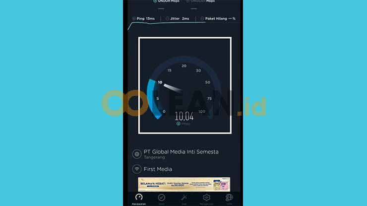 Hasil Kecepatan Download
