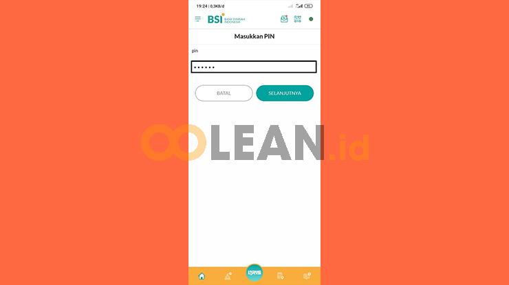 Input PIN BSI Mobile 1