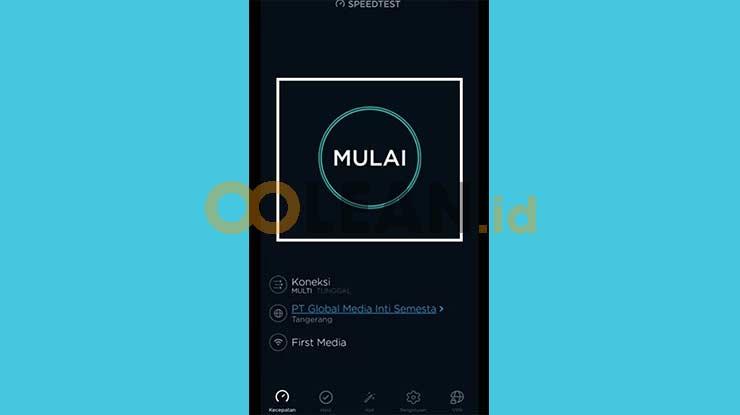 Jalankan Aplikasi Speedtest by Ookla