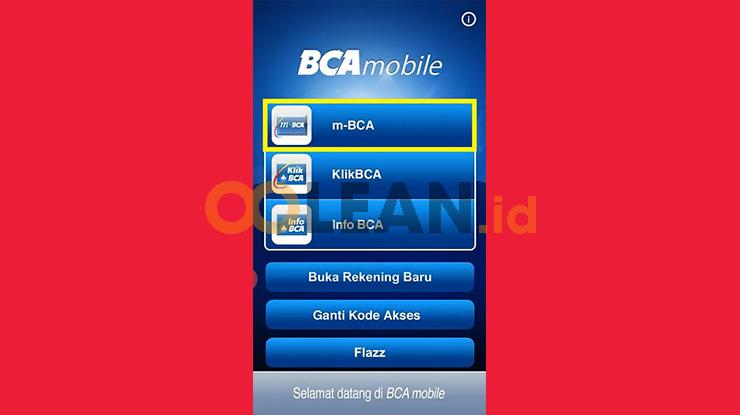 Jalankan Aplikasi m Banking BCA