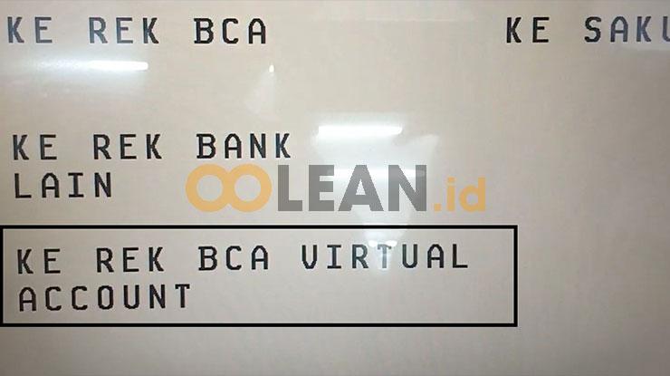Ke Rekening BCA Virtual Account