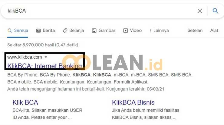 Kunjungi Situs KlikBCA