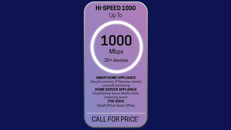 4. Hi Speed 1000 Mbps