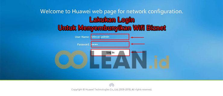 Login Dashboard Huawei