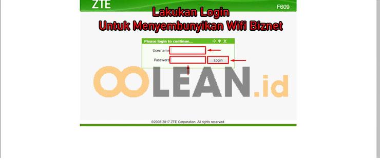 Login Dashboard ZTE