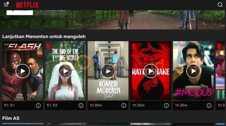 Netflix Berhasil Terpasang