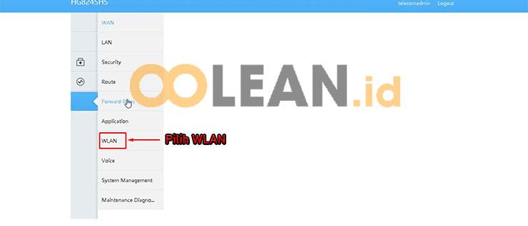 Pilih WLAN Modem Huawei