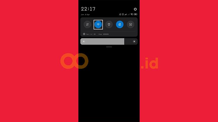 Slide Kebawah Pada Layar Smartphone