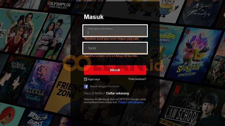 Login Netflix