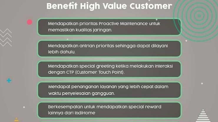 Keuntungan Dari Program High Value Customer Indihome