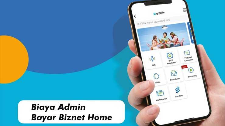 Biaya Admin Bayar Tagihan Biznet via GoPay
