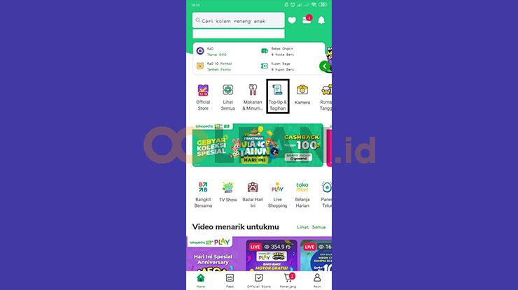 Buka Aplikasi Tokopedia 1