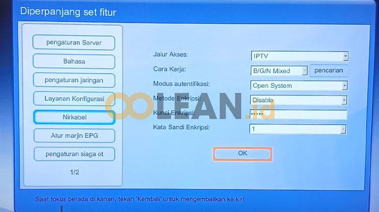 Gunakan Koneksi yang Sudah Dibuat untuk setting STB Tanpa Kabel LAN