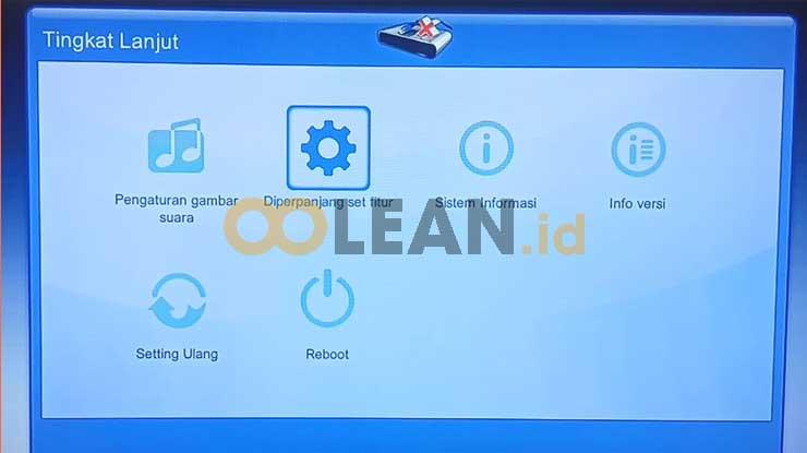 Pilih Menu Diperpanjang Set Fitur Untuk Setting STB MNC Play Tanpa Kabel LAN